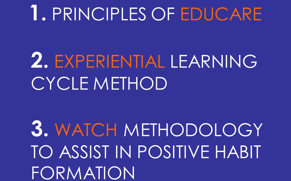 1. PRINCIPLES OF EDUCARE 2. EXPERIENTIAL LEARNING CYCLE METHOD 3.