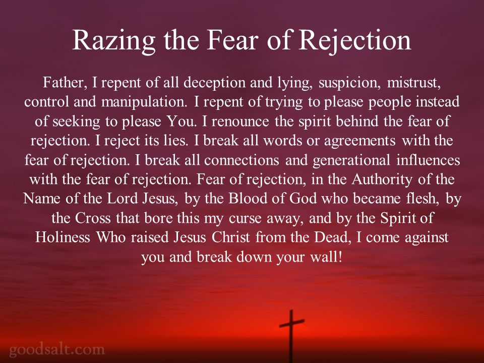 Father, I repent of all deception and lying, suspicion, mistrust, control and manipulation.