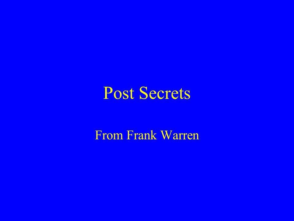 Post Secrets From Frank Warren