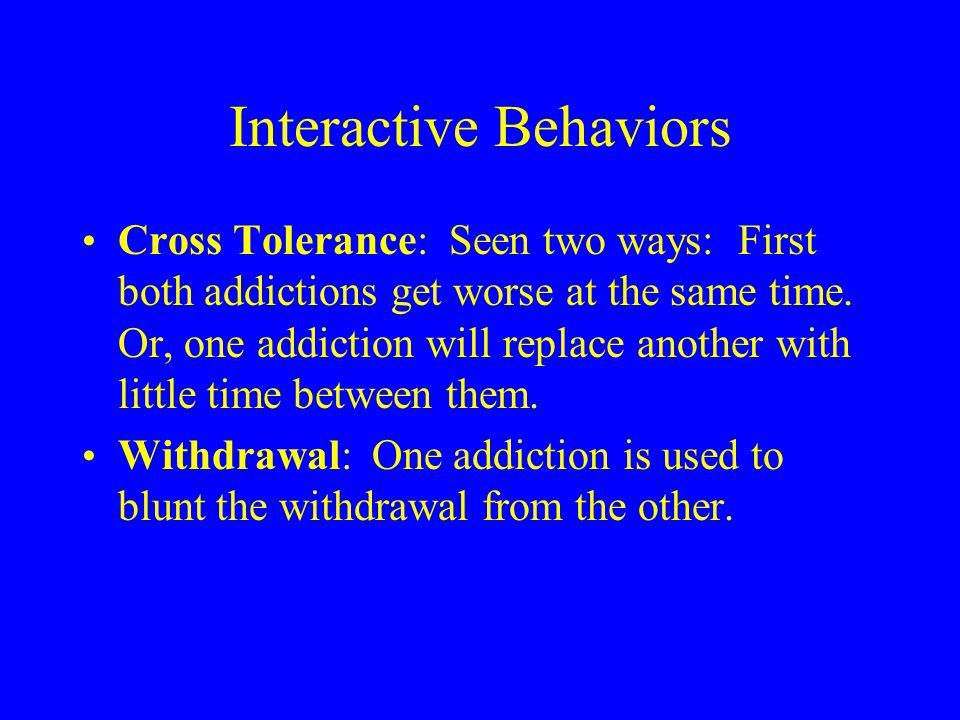 Addiction Interaction cont.