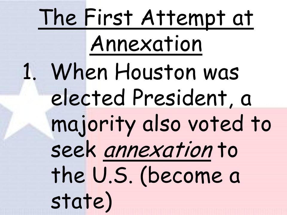 A New Capital 1. John & Augustus Allen built a new city, named it Houston.
