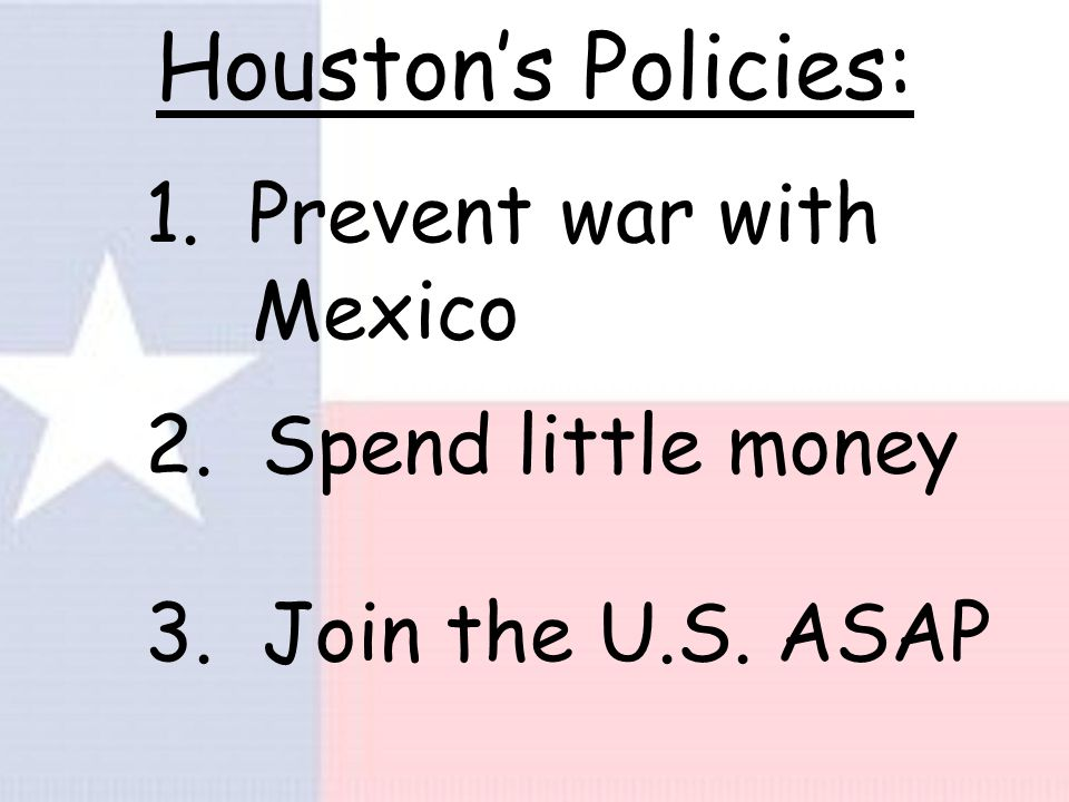 Houston's Return Leads to Annexation - Sam Houston was elected again in 1841.