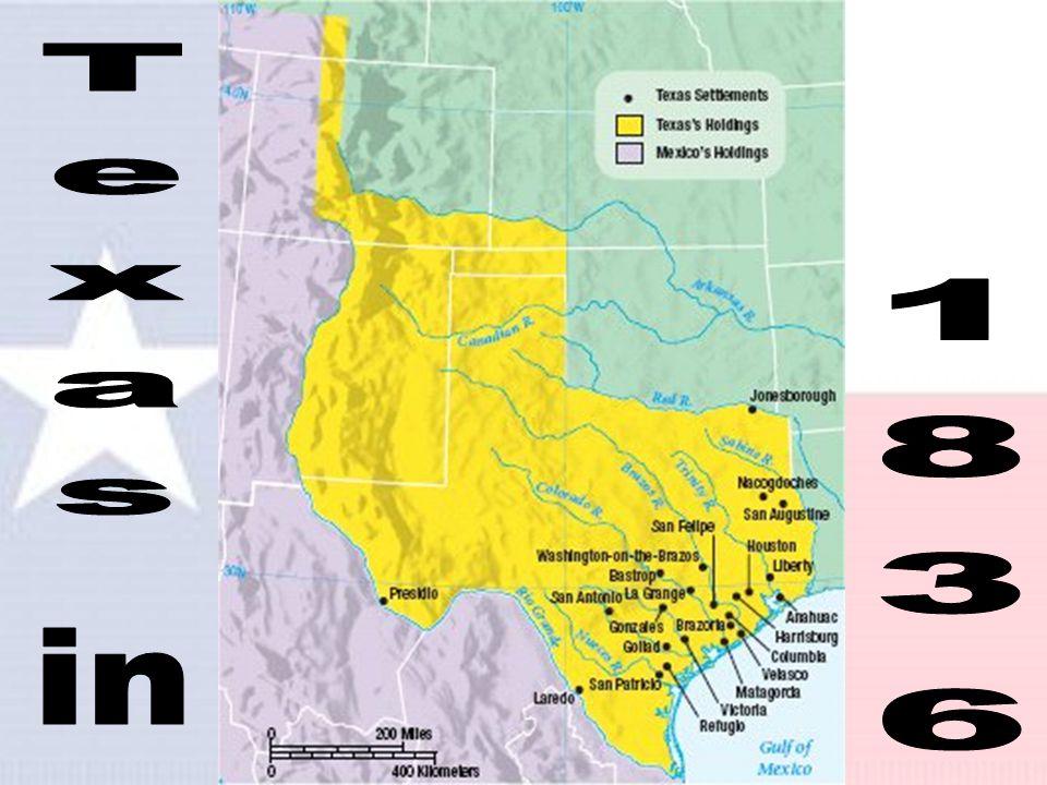 The Republic of Texas 1. Sam Houston became 1 st President 2.