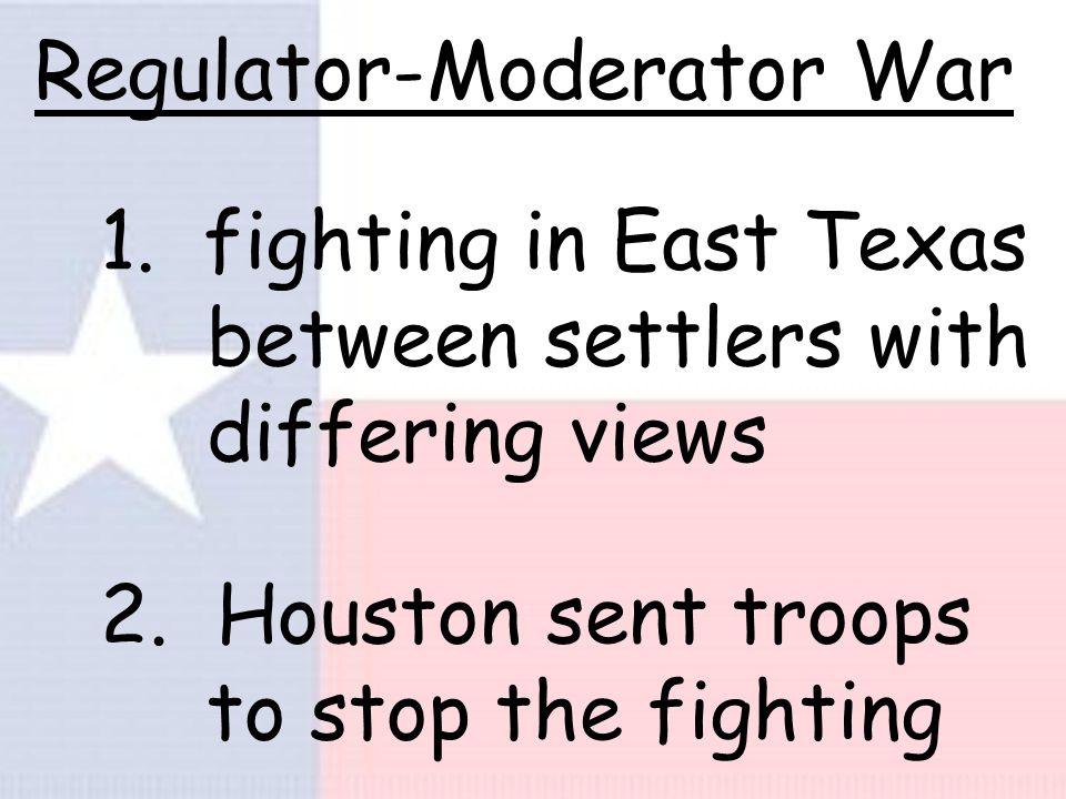 Archives War 1. War was the struggle to decide the location of TX capital.
