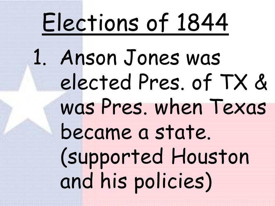 2. TX requested annexation again, didn't get U.S.