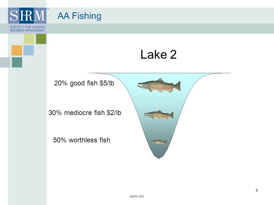 ©SHRM 2010 4 20% good fish $5/lb 30% mediocre fish $2/lb 50% worthless fish Lake 2 AA Fishing