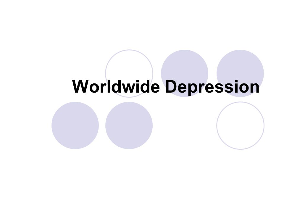Worldwide Depression
