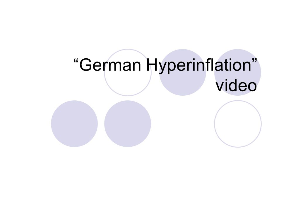 German Hyperinflation video