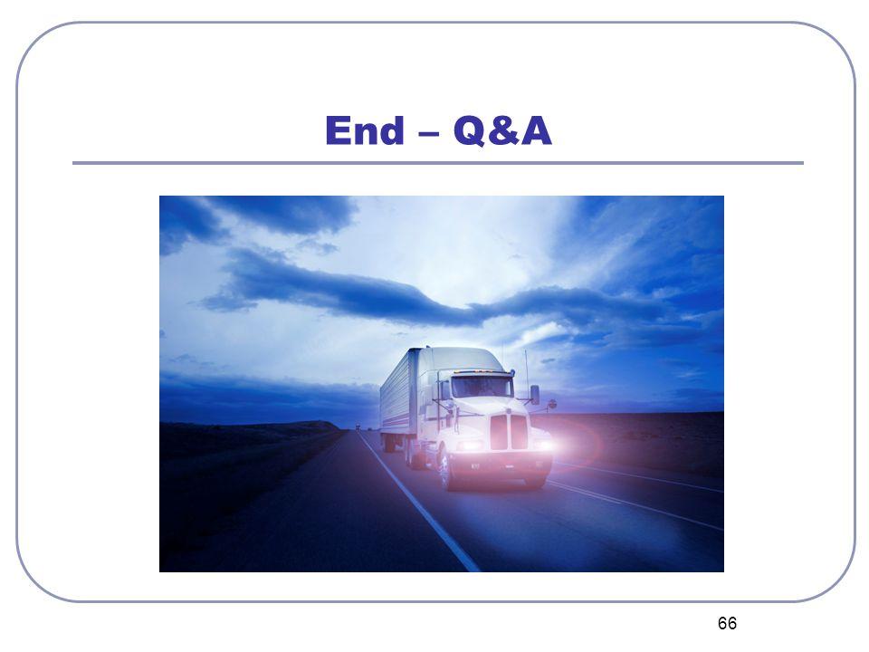 66 End – Q&A