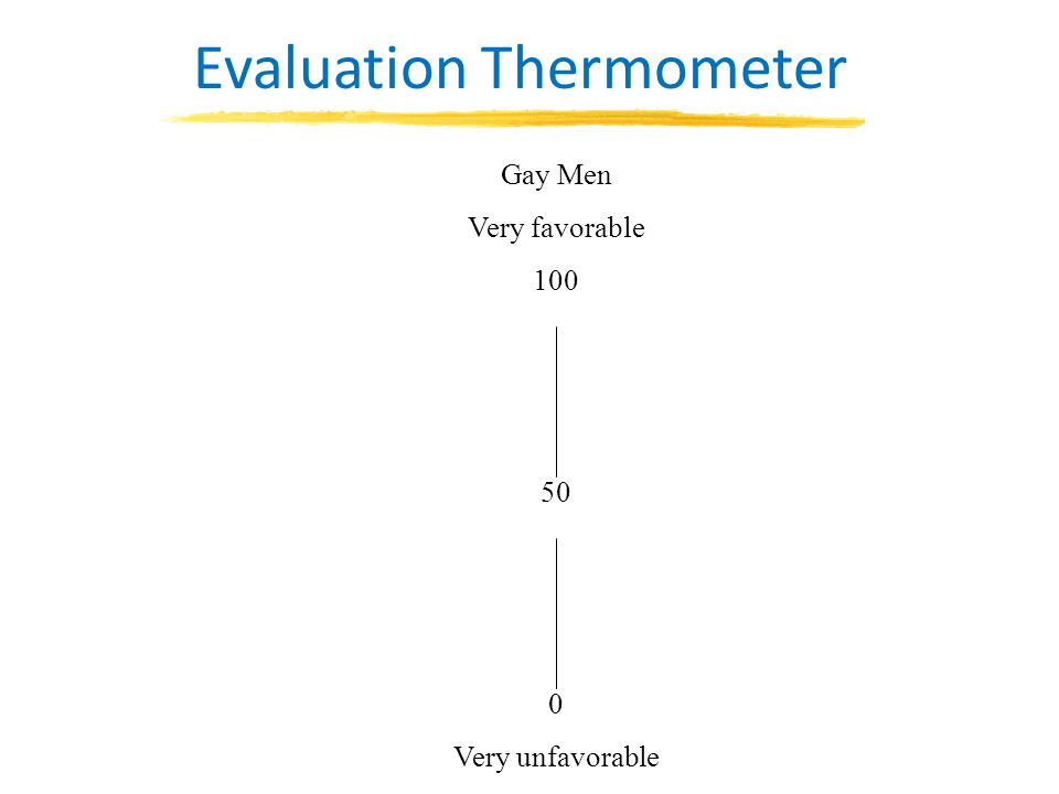 Gay Men Very favorable 100 50 0 Very unfavorable Evaluation Thermometer