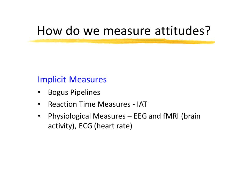 How do we measure attitudes.