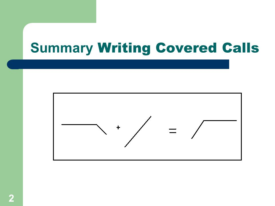 Summary Writing Covered Calls 2