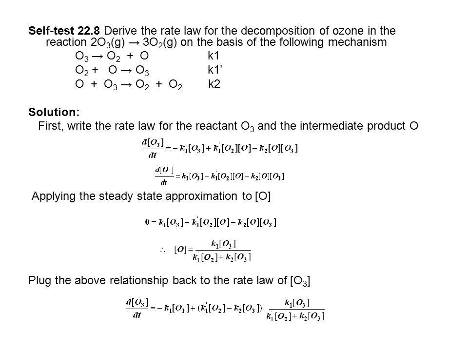 Rate determining step