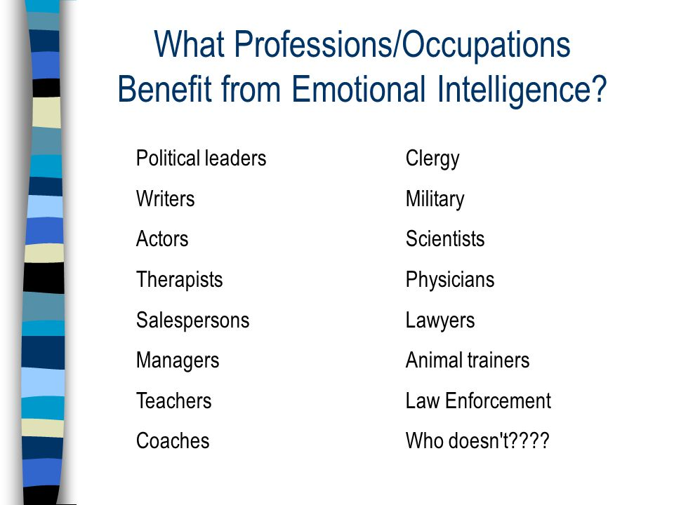 What Professions/Occupations Benefit from Emotional Intelligence.