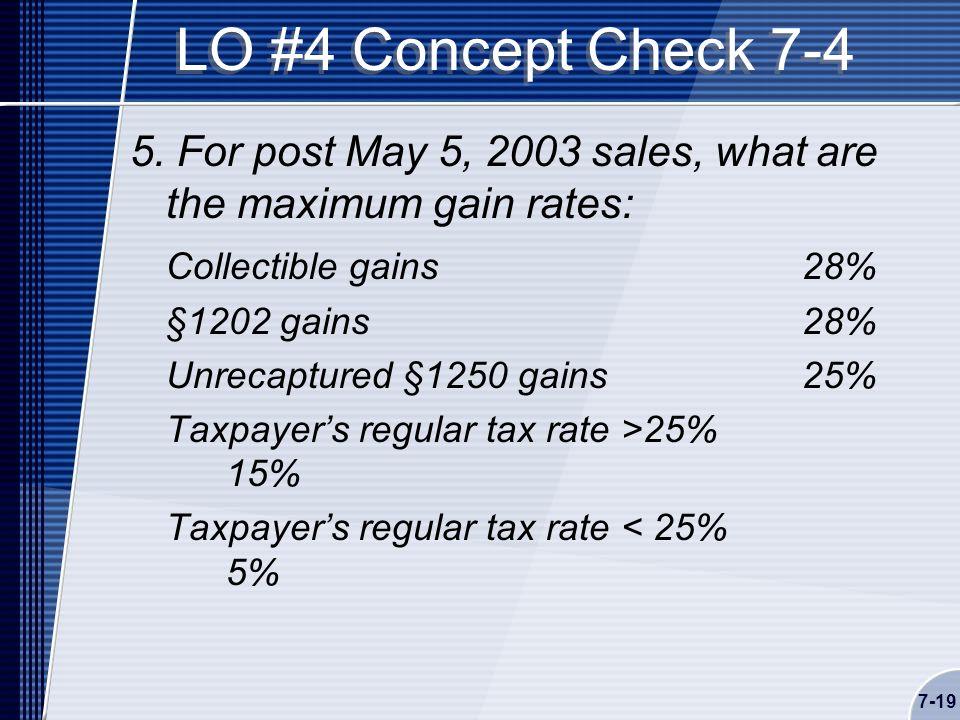 7-19 LO #4 Concept Check 7-4 5.