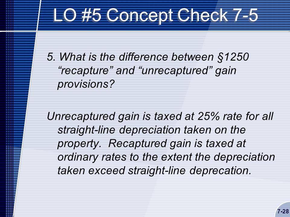 7-28 LO #5 Concept Check 7-5 5.