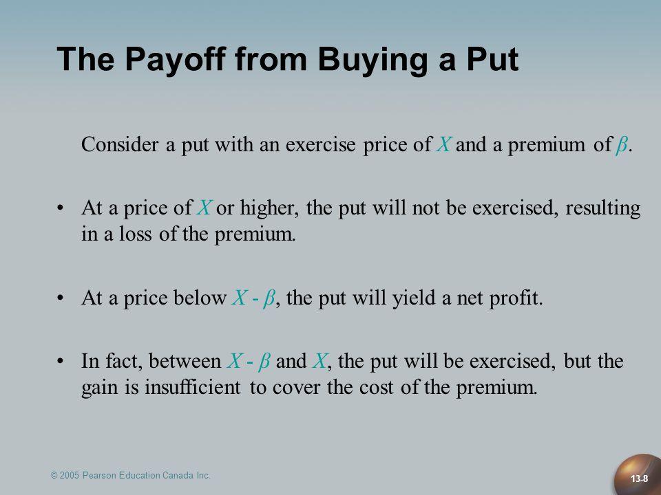 13-19 Profits and Losses: Options vs.Futures $100,000 Canada-bond contract, 1.