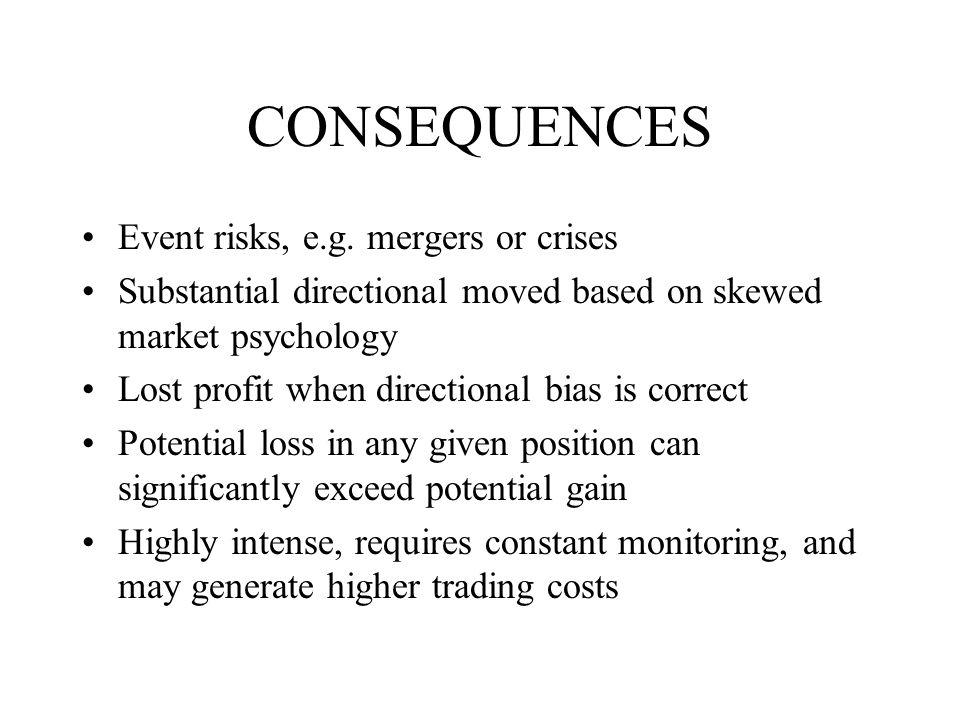 CONSEQUENCES Event risks, e.g.