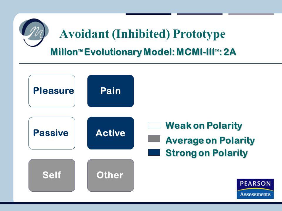 Millon TM Evolutionary Model: MCMI-III TM : 2A Millon TM Evolutionary Model: MCMI-III TM : 2A Weak on Polarity Average on Polarity Strong on Polarity