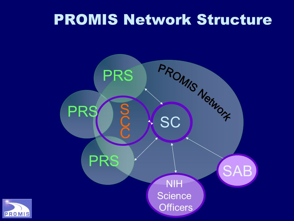 PROMIS Network Structure SAB PRS SCCSCC SC NIH Science Officers