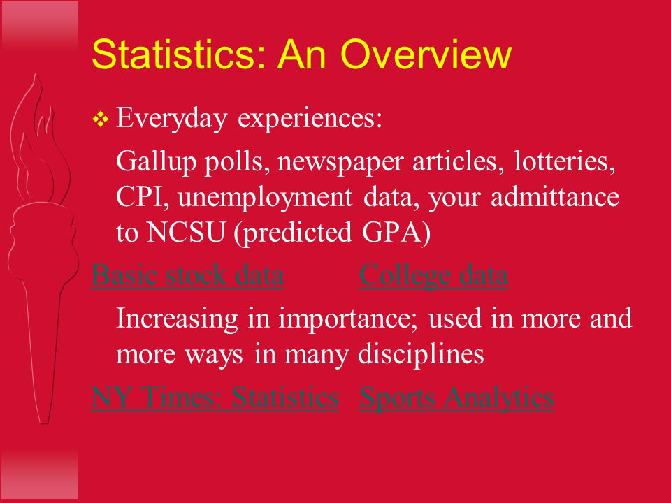 Lecture Unit 1 Stats Starts Here Objectives: be able to –  Identify the Who, What, Why, When, Where and How associated with data  Identify different types of data variables