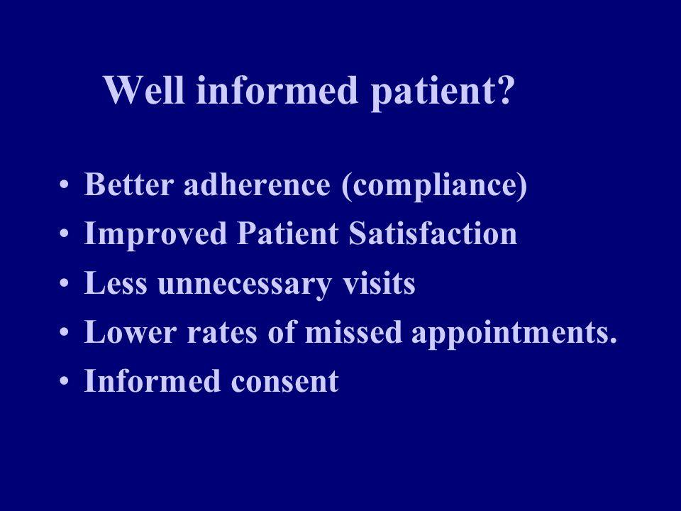 Well informed patient.