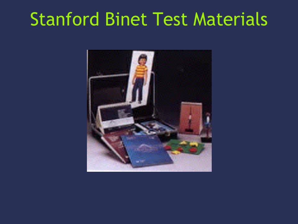 Stanford Binet Test Materials
