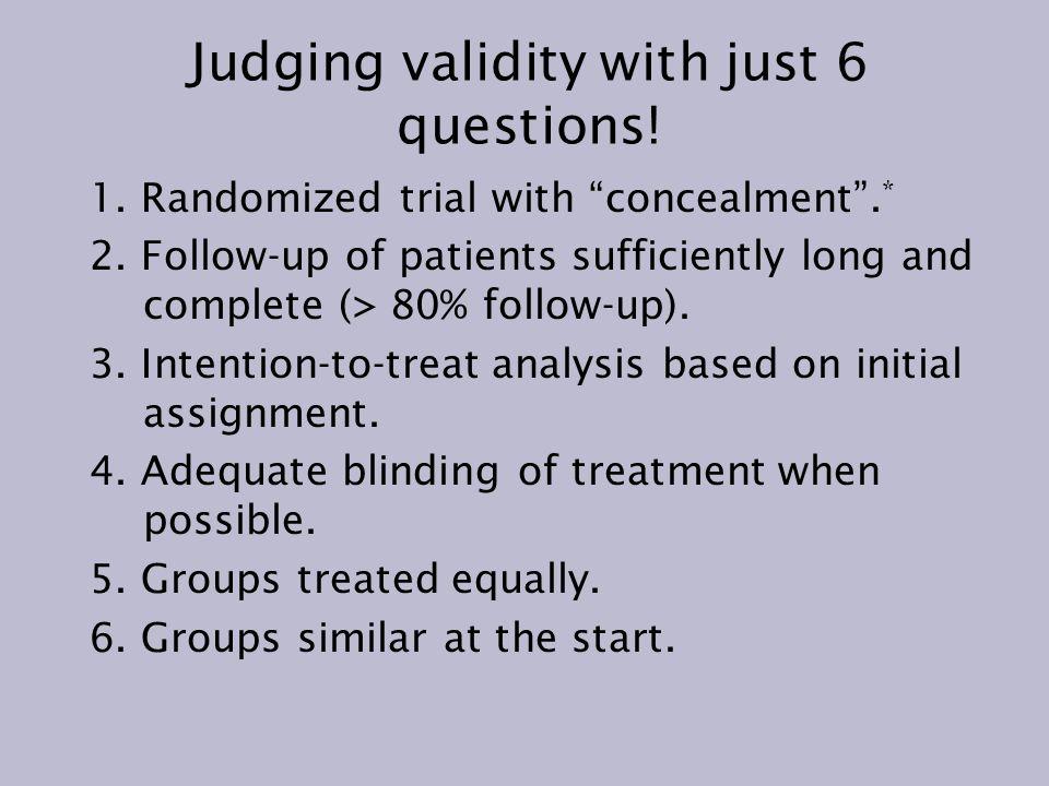 No Randomized Trials or Published Studies Fall Short.