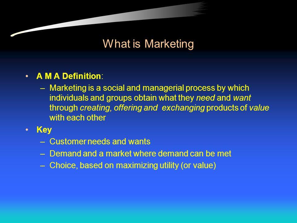 RAO's Definition of Marketing Marketing = Romance + Finance