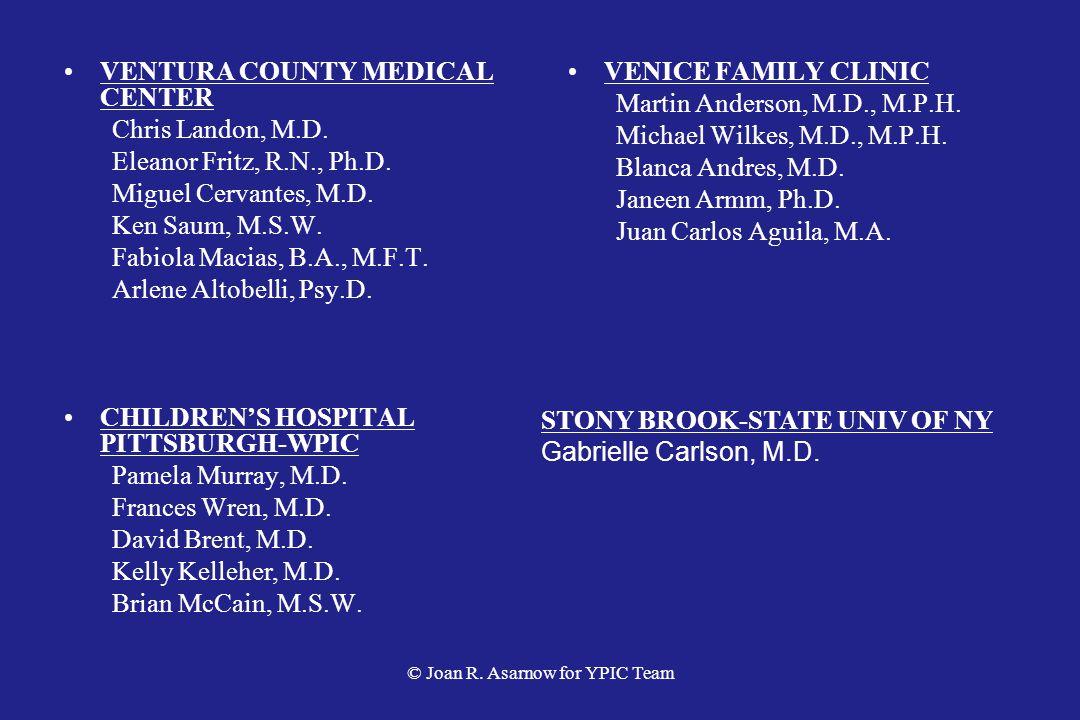 VENTURA COUNTY MEDICAL CENTER Chris Landon, M.D.Eleanor Fritz, R.N., Ph.D.