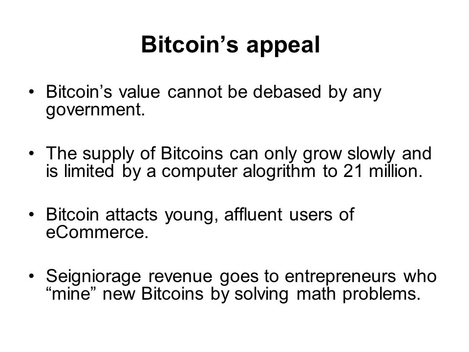 What can you not do with Bitcoin.