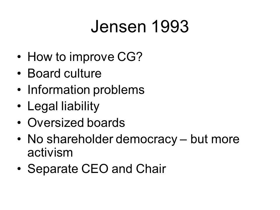 Jensen 1993 How to improve CG.