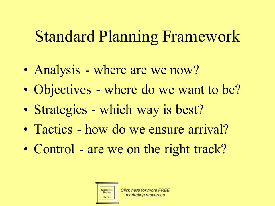 Standard Planning Framework Analysis - where are we now.
