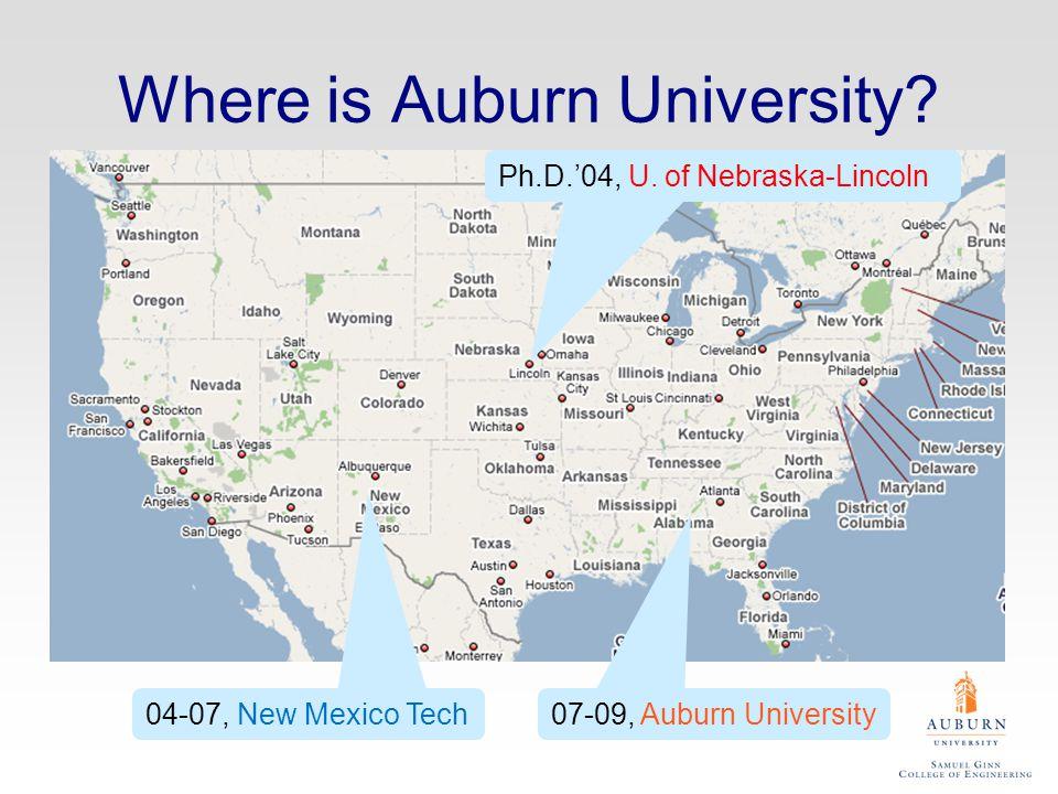 Where is Auburn University. Ph.D.'04, U.