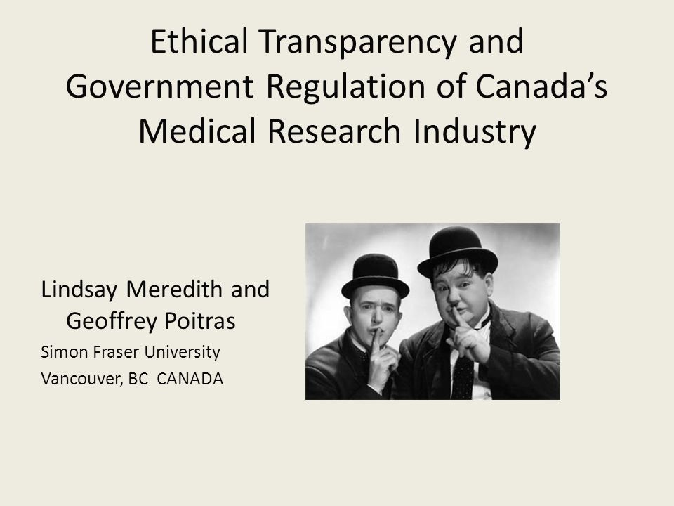 Ethical Transparency The ability to perceive ethical intentions is a key element in the approval of medical research studies Transparency is opaque when the ethical intention is difficult to perceive The primary corporate objective of shareholder wealth maximization (SWM) is ethically opaque  SWM depends on the expected price for the corporation's common stock