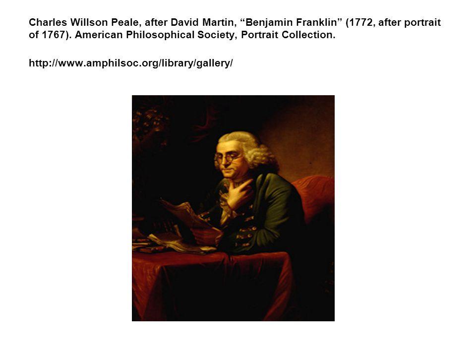 Charles Willson Peale, after David Martin, Benjamin Franklin (1772, after portrait of 1767).