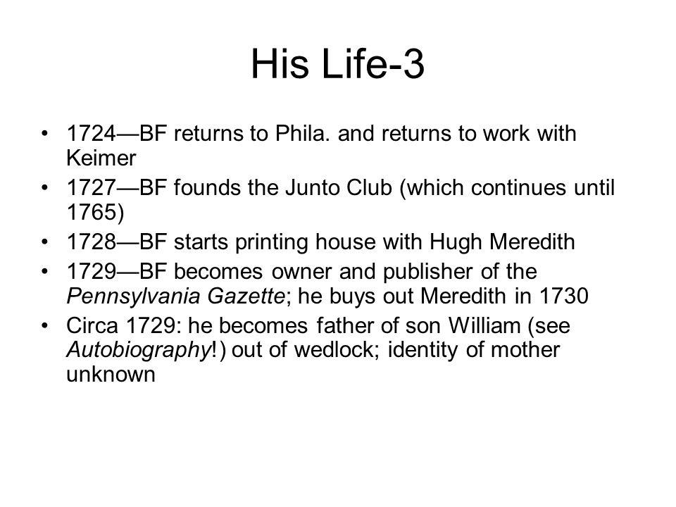 His Life-3 1724—BF returns to Phila.