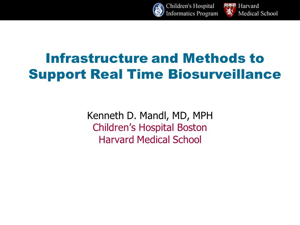 Infrastructure and Methods to Support Real Time Biosurveillance Kenneth D.