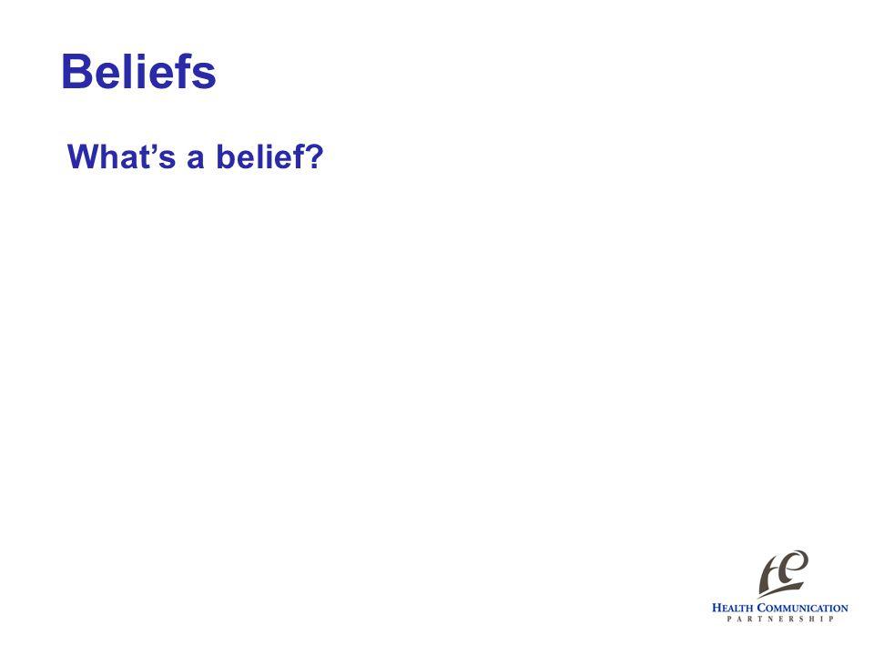 Beliefs What's a belief