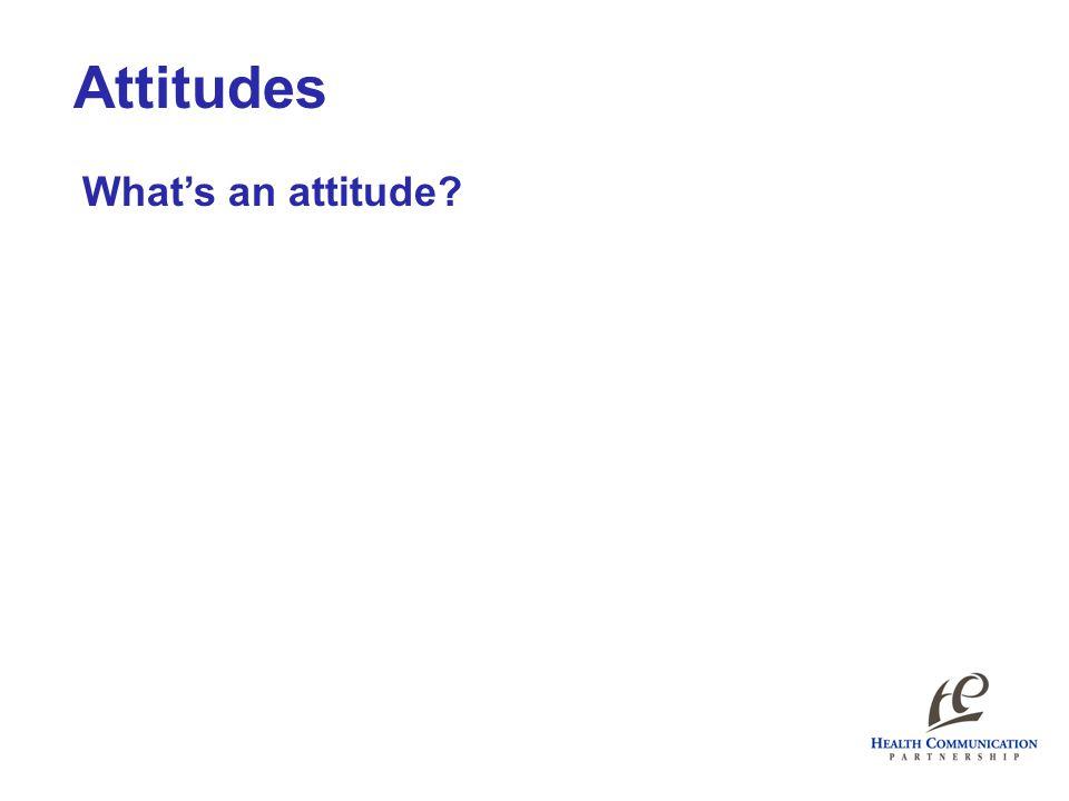 Attitudes What's an attitude