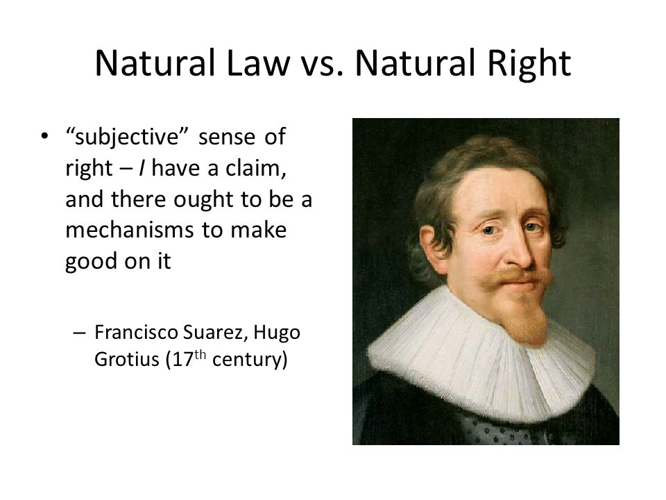 Natural Law vs.