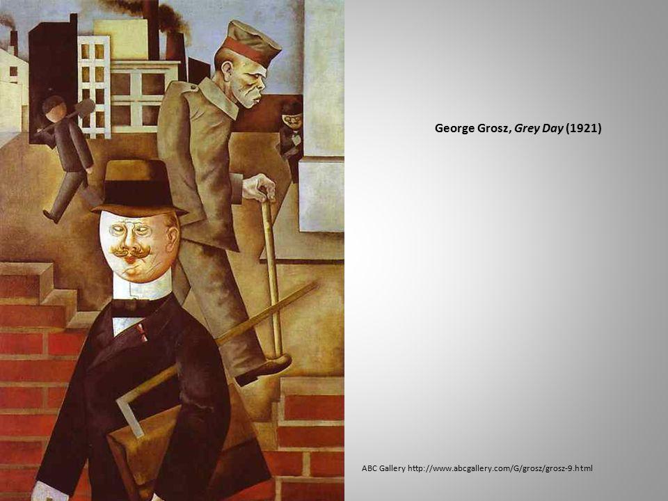 George Grosz, Grey Day (1921) ABC Gallery http://www.abcgallery.com/G/grosz/grosz-9.html