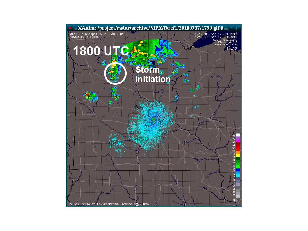 1800 UTC Storm initiation