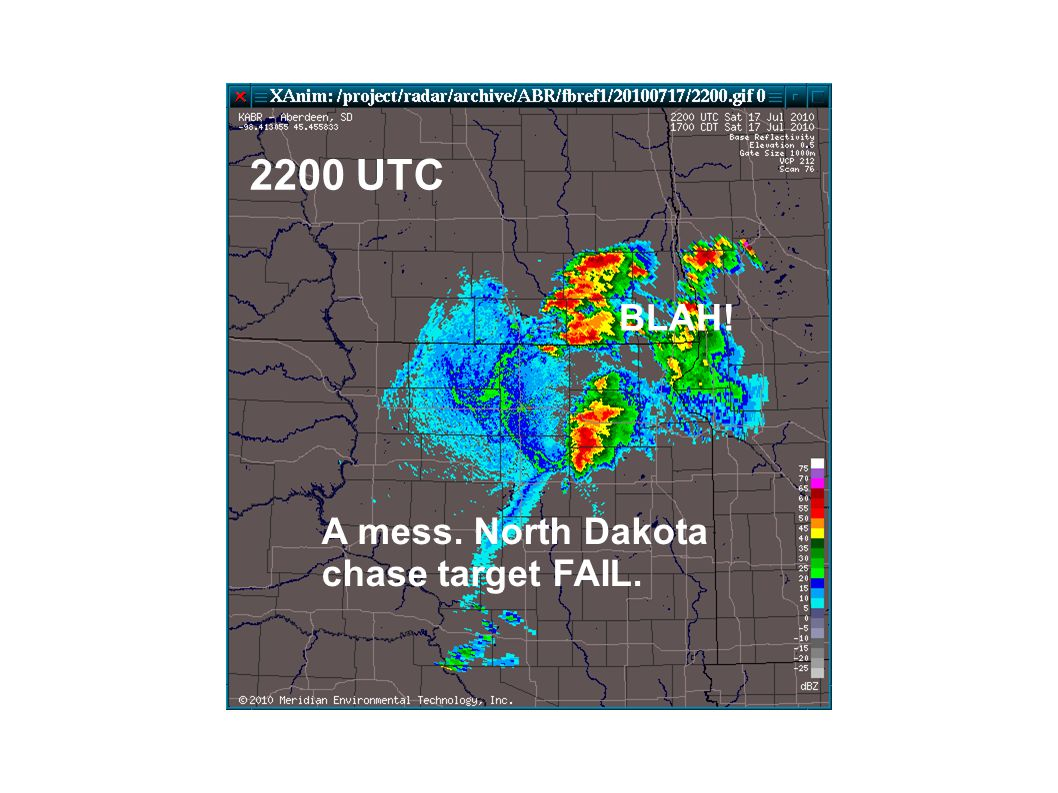 A mess. North Dakota chase target FAIL. 2200 UTC BLAH!