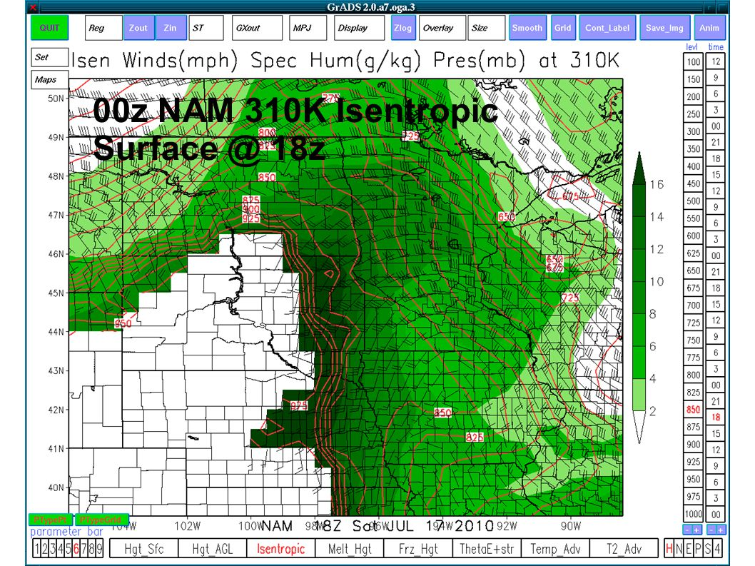 00z NAM 310K Isentropic Surface @ 18z