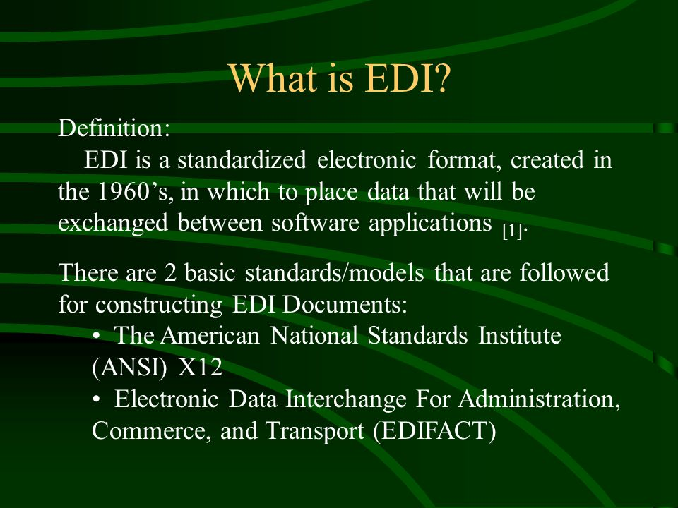 What is EDI.