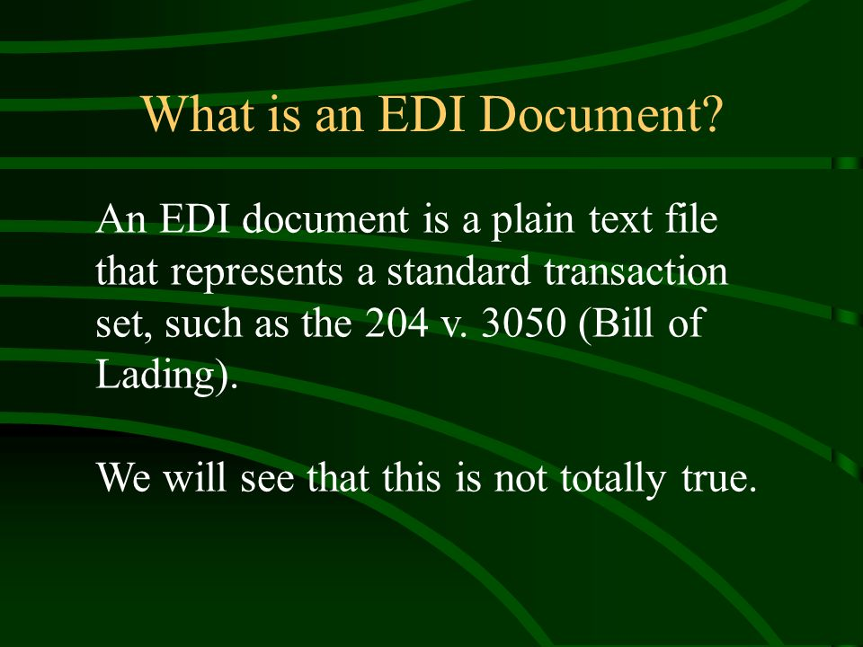 What is an EDI Document.