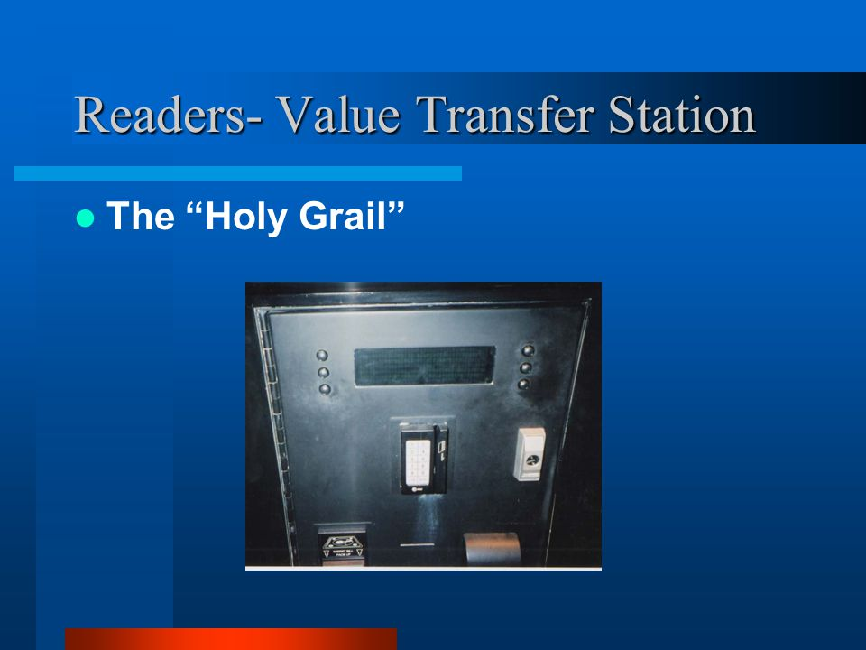 Readers- Value Transfer Station The Holy Grail