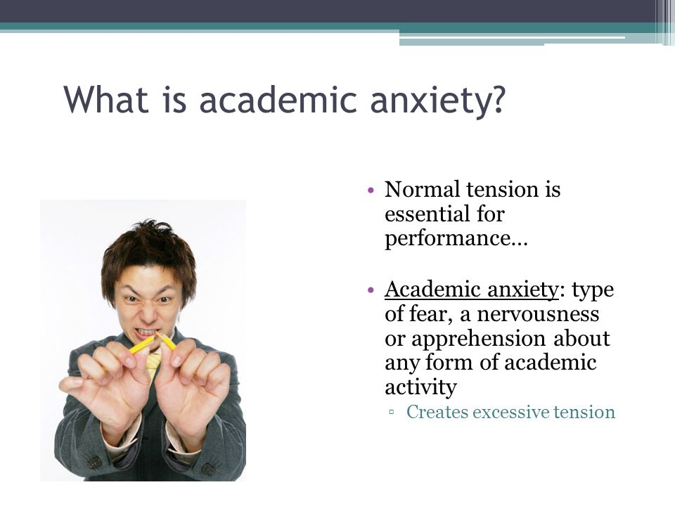 What is academic anxiety.