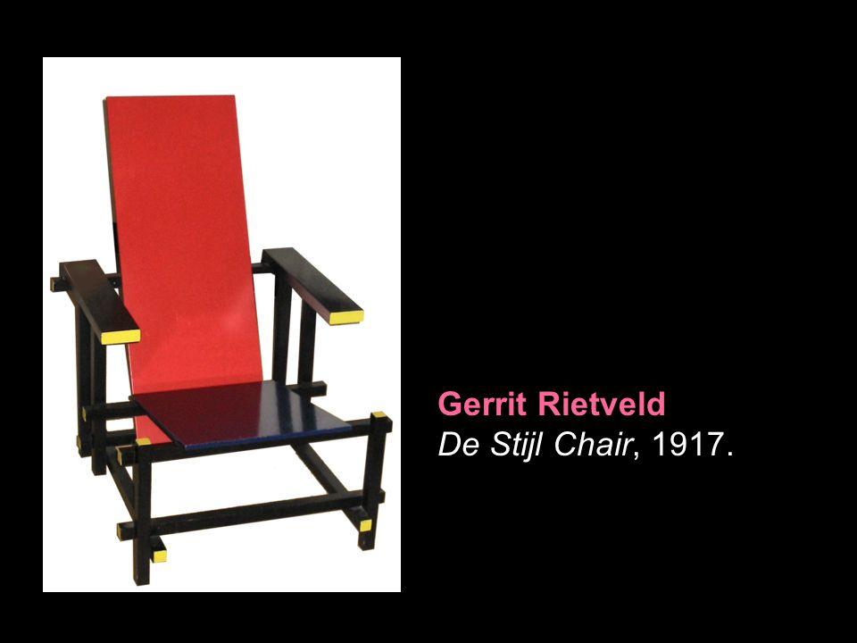 Gerrit Rietveld De Stijl Chair, 1917.